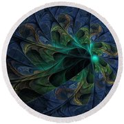 Round Beach Towel featuring the digital art What Is Given Here by NirvanaBlues