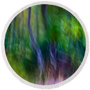 Whispers On The Wind Round Beach Towel