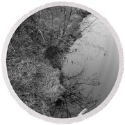 Round Beach Towel featuring the photograph White Branch Riverside  by Kathleen Grace