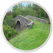 White Bridge Scotland Round Beach Towel