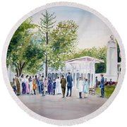 White City Round Beach Towel