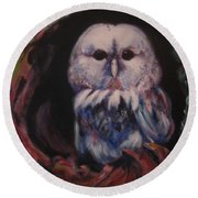 Who's Lair Round Beach Towel