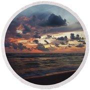 Wiggins Beach Summer Sunset. Round Beach Towel