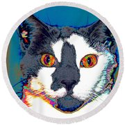Wild Eyes Round Beach Towel