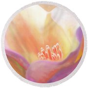 Wild Poppy Round Beach Towel