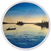 Wilderness Camp Round Beach Towel