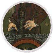 Willie Von Goethegrupf Round Beach Towel by Patrick Anthony Pierson