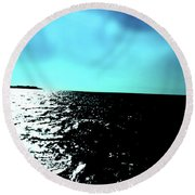 Windsurfing Greece Round Beach Towel
