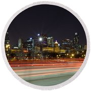 Windy City Fast Lane Round Beach Towel