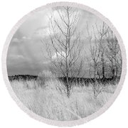 Winter Bare Round Beach Towel