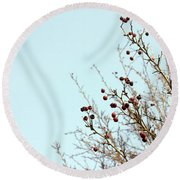 Winter's End Round Beach Towel