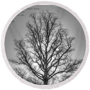 Without Hope... Round Beach Towel