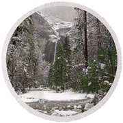 Wonderland Yosemite Round Beach Towel