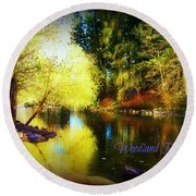 Woodland Park Round Beach Towel