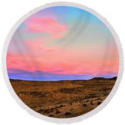 Wyoming Lights Round Beach Towel