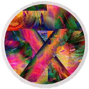 X Marks The Spot Round Beach Towel