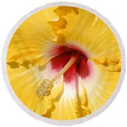 Yellow Fellow Round Beach Towel
