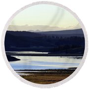 Yellowstone Landscapes Round Beach Towel