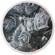 Yesterday Roses Round Beach Towel