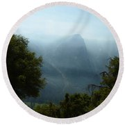 Yosemite Falls Hike Round Beach Towel