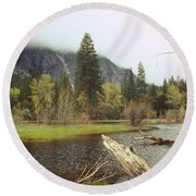 Yosemite Round Beach Towel by Mark Greenberg