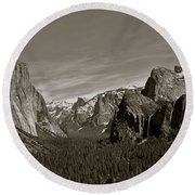 Round Beach Towel featuring the photograph Yosemite Valley by Eric Tressler