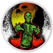 Zombie Round Beach Towel