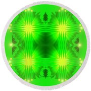 962 - Green   Pillow And Duvet Cover Round Beach Towel