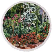 A Garden Approach Round Beach Towel