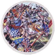 Agincourt The Impossible Victory 25 October 1415 Round Beach Towel