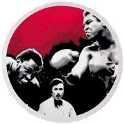 - Ali Vs Fraser - Round Beach Towel by Luis Ludzska