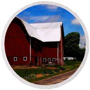 Ashland Spring's Farm Round Beach Towel