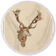 , Buck Head Round Beach Towel