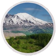 Castle Lake And Mt. St. Helens Round Beach Towel