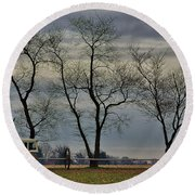 Central Jersey Farmstead Round Beach Towel