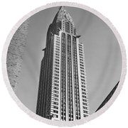 Chrysler Building Round Beach Towel by American School