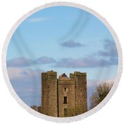 Dunsoghly Castle Round Beach Towel