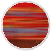 Evening In Ottawa Valley Round Beach Towel by Rabi Khan