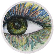 Eye For Details Round Beach Towel