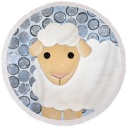 The Blessing Of The Lamb Round Beach Towel