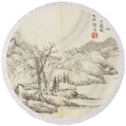 Landscapes Round Beach Towel