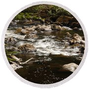 Little Stream At The Hermitage Round Beach Towel by Martina Fagan