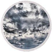 Round Beach Towel featuring the photograph  Mental Seaview by Jouko Lehto