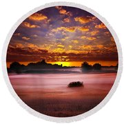 Quiescent  Round Beach Towel