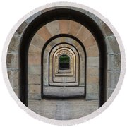 Receding Arches Round Beach Towel