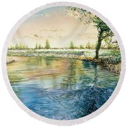 River Bend Round Beach Towel