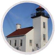 Sand Point Lighthouse Escanaba Round Beach Towel