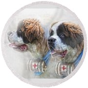 Saviours In The Snow Round Beach Towel