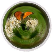 Round Beach Towel featuring the photograph  Scarce Copper 3 by Jouko Lehto