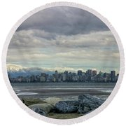 Sea To Sky II Round Beach Towel